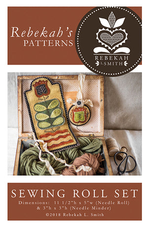 Sewing Roll Set -  Wool Applique Pattern by Rebekah L. Smith