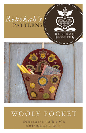 Wooly Pocket -  Wool Applique Pattern by Rebekah L. Smith