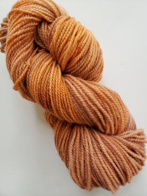 FADED PUMPKIN-  Hand Dyed Shades of Orange/Pumpkin Worsted Yarn for Rug Hooking - RSS231