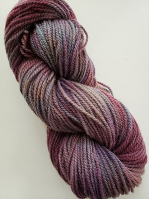 LAST LIGHT -  Hand Dyed Shades of Lavender/Mauve/Pink Worsted Yarn for Rug Hooking - RSS233