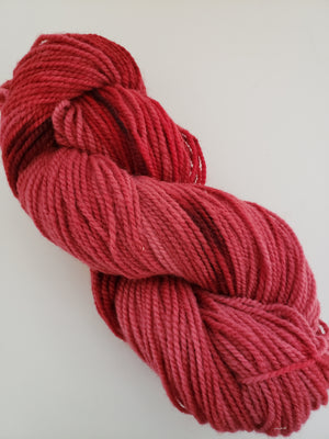 YULETIDE RED-  Hand Dyed Shades of Red Worsted Yarn for Rug Hooking - RSS259