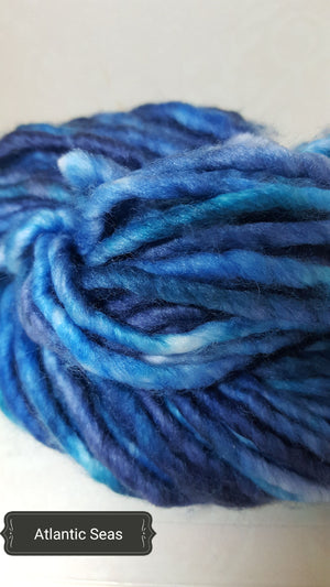 RSS112- ATLANTIC SEAS - Hand Dyed Chunky Yarn for Rug Hooking