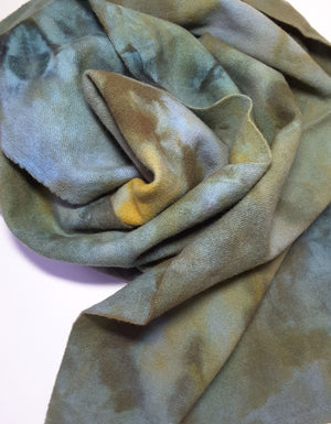 RSS140 - Beach Cottage - Wool Fabric Hand Dyed