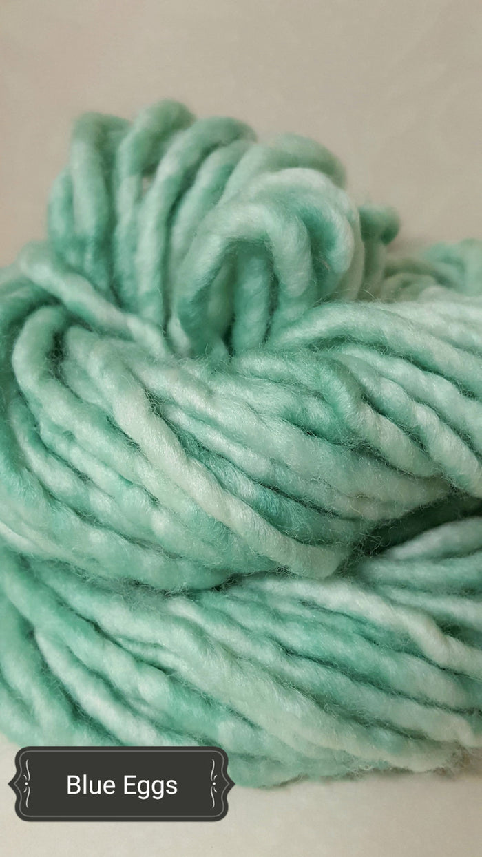 RSS117- BLUE EGG - Hand Dyed Chunky Yarn for Rug Hooking