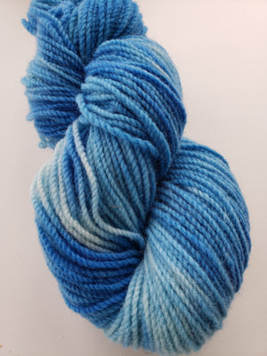 CLEAR SKIES -  Hand Dyed Blue Worsted Yarn for Rug Hooking - RSS173
