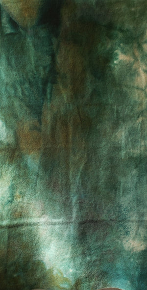 Hand Dyed Studio Cloth - DAPPLED FOREST - Wool Fabric for Rug Hooking and Wool Applique - RSS157-3