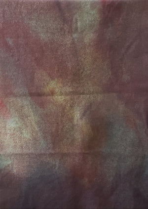 Hand Dyed Studio Cloth - LAST SUNSET -  Shades of Dusky Purple - Wool Fabric for Rug Hooking and Wool Applique