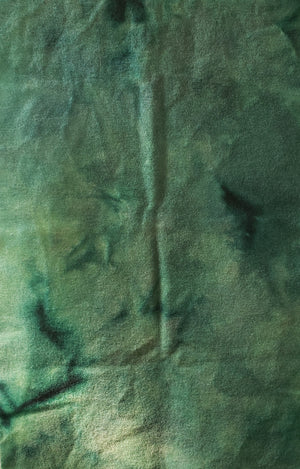 Hand Dyed Studio Cloth - MERMAID'S TAIL -  Blue Green - Wool Fabric for Rug Hooking and Wool Applique - RSS125