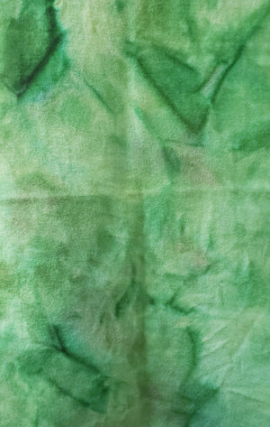Hand Dyed Studio Cloth - MOTTLED LEAVES -  Shades of Green - Wool Fabric for Rug Hooking and Wool Applique - RSS115