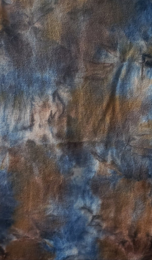 Hand Dyed Studio Cloth - WINTER BLUES - Shades of Blue and Gold -  Wool Fabric for Rug Hooking and Wool Applique - RSS213