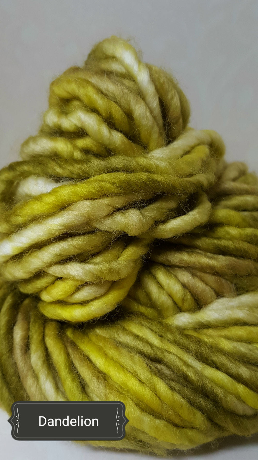 RSS114- DANDELION - Hand Dyed Chunky Yarn for Rug Hooking