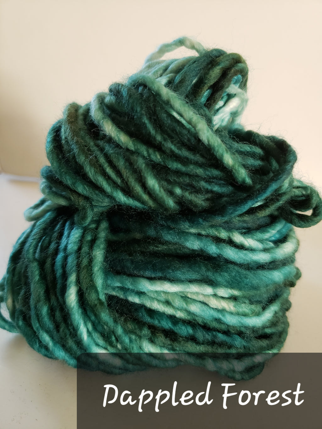 RSS157-2 - DAPPLED FOREST - Hand Dyed Chunky Yarn for Rug Hooking