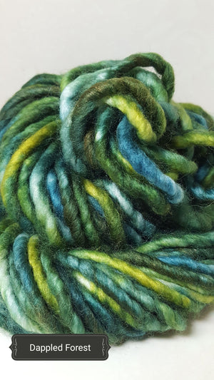 RSS118 - DAPPLED FOREST - Hand Dyed Chunky Yarn for Rug Hooking