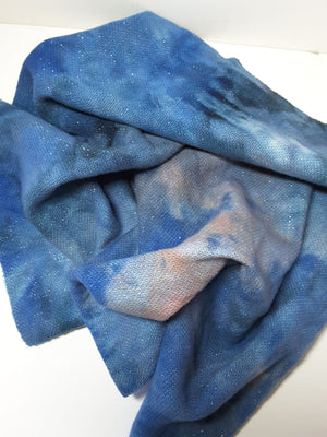 DARNLEY BASIN - Sparkly Wool Fabric Hand Dyed - RSS142