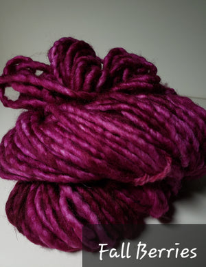 RSS156-2 - FALL BERRIES - Hand Dyed Chunky Yarn for Rug Hooking