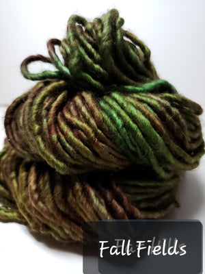 RSS153-2 - FALL FIELD - Hand Dyed Chunky Yarn for Rug Hooking