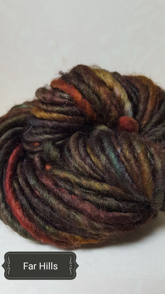 RSS111- FAR HILLS - Hand Dyed Chunky Yarn for Rug Hooking