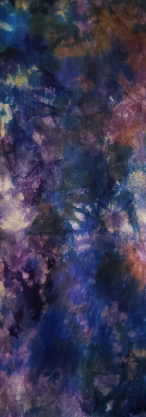 Hand Dyed Studio Cloth - FLORAL DANCE - Shades of Blues, Greens, Purples, Pinks and Yellow -  Wool Fabric for Rug Hooking and Wool Applique - RSS207