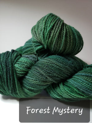 RSS155-4 - FOREST MYSTERY - Hand Dyed Worsted Yarn for Rug Hooking