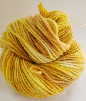 FORSYTHIA -  Hand Dyed Yellow/Gold Worsted Yarn for Rug Hooking - RSS170