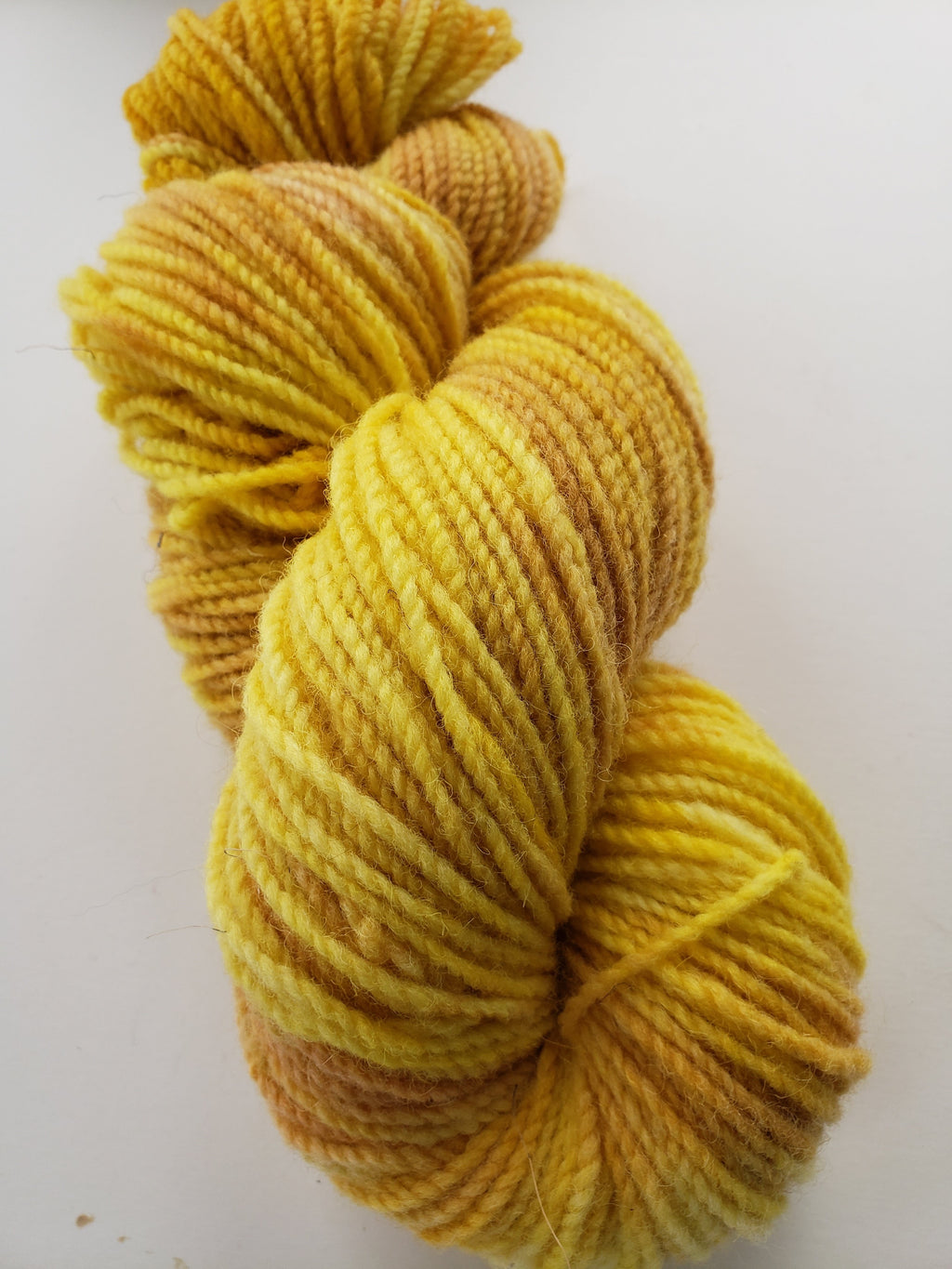 FORSYTHIA -  Hand Dyed Shades of Yellow, Gold Worsted Yarn for Rug Hooking - RSS170