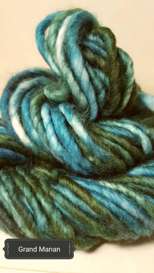 RSS123 - GRAND MANAN ISLAND - Hand Dyed Chunky Yarn for Rug Hooking