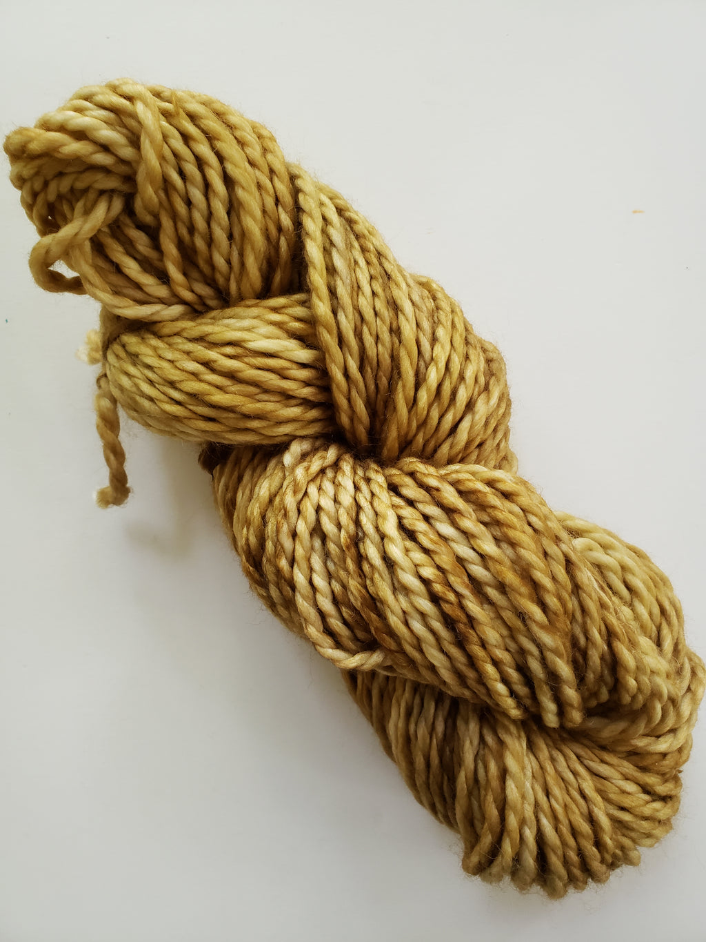 HAY BALE - BIG TWISTY 2 PLY -  Hand Dyed Shades of Yellow and Browns Chunky Yarn for Rug Hooking - RSS225