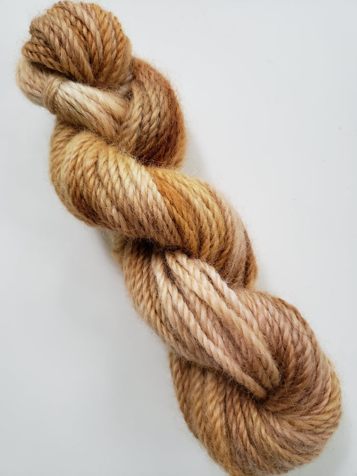 ISLAND SAND  -  Hand Dyed Shades of Caramel, Pink and Cream Worsted/Aran Yarn for Rug Hooking - RSS212