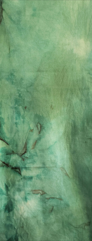 Hand Dyed Studio Cloth - BAYBERRY GREEN LIGHT - Shades of Green - Wool Fabric for Rug Hooking and Wool Applique - RSS245