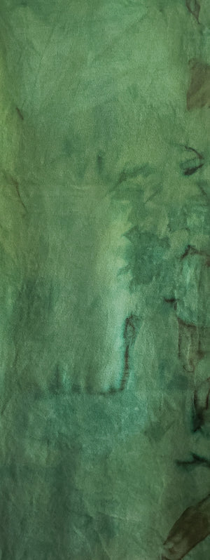 Hand Dyed Studio Cloth - BAYBERRY GREEN MEDIUM - Shades of Green - Wool Fabric for Rug Hooking and Wool Applique - RSS245