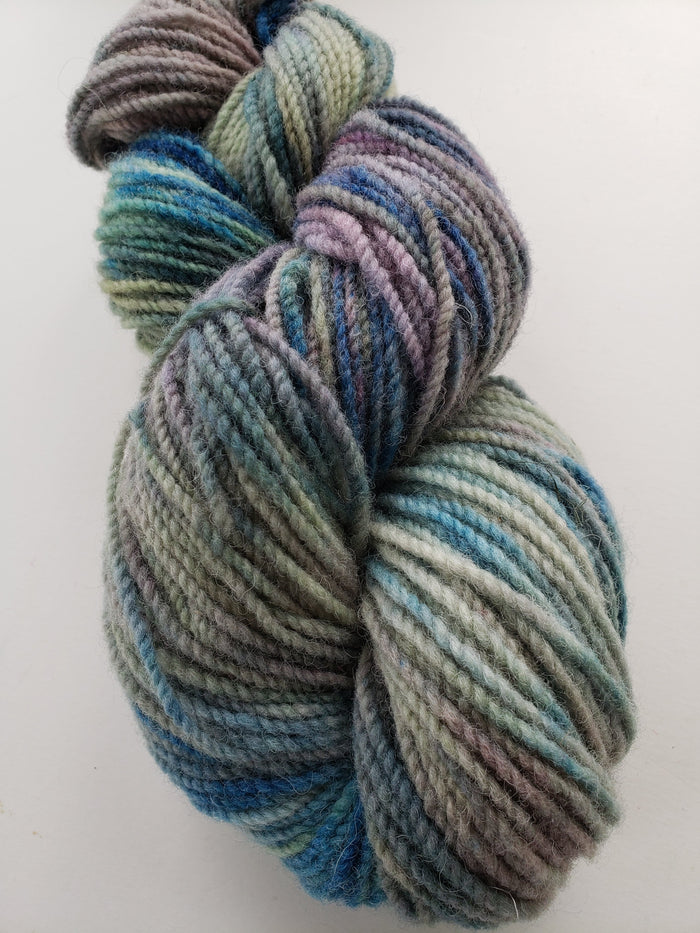 MISTY MEADOWS -  Hand Dyed Multicoloured Worsted Yarn for Rug Hooking - RSS169