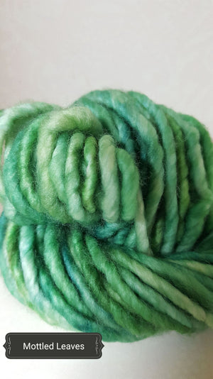 RSS115- MOTTLED LEAVES - Hand Dyed Chunky Yarn for Rug Hooking