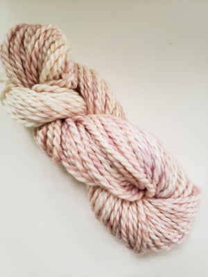 PINK BALLET SLIPPERS - BIG TWISTY 2 PLY -  Hand Dyed Shades of Pink and Cream Chunky Yarn for Rug Hooking - RSS254