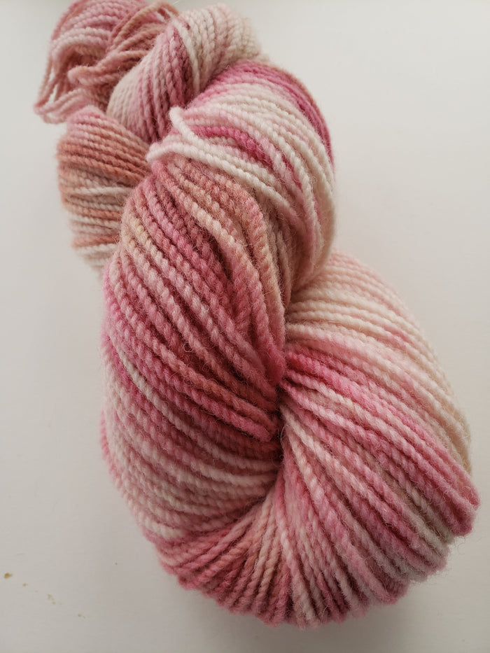 PINK MAGNOLIA -  Hand Dyed Pink Worsted Yarn for Rug Hooking - RSS172
