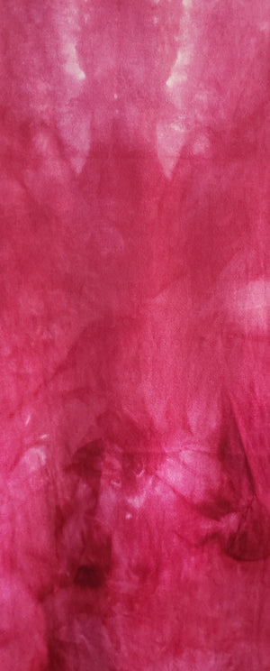 Hand Dyed Studio Cloth - PINK POINSETTIA - Shades of Pink and Cream -  Wool Fabric for Rug Hooking and Wool Applique - RSS244