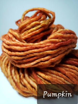 RSS151-2 - PUMPKIN - Hand Dyed Chunky Yarn for Rug Hooking