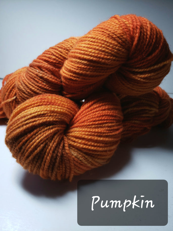 PUMPKIN - Hand Dyed Rusty Orange Worsted Yarn for Rug Hooking - RSS151-4