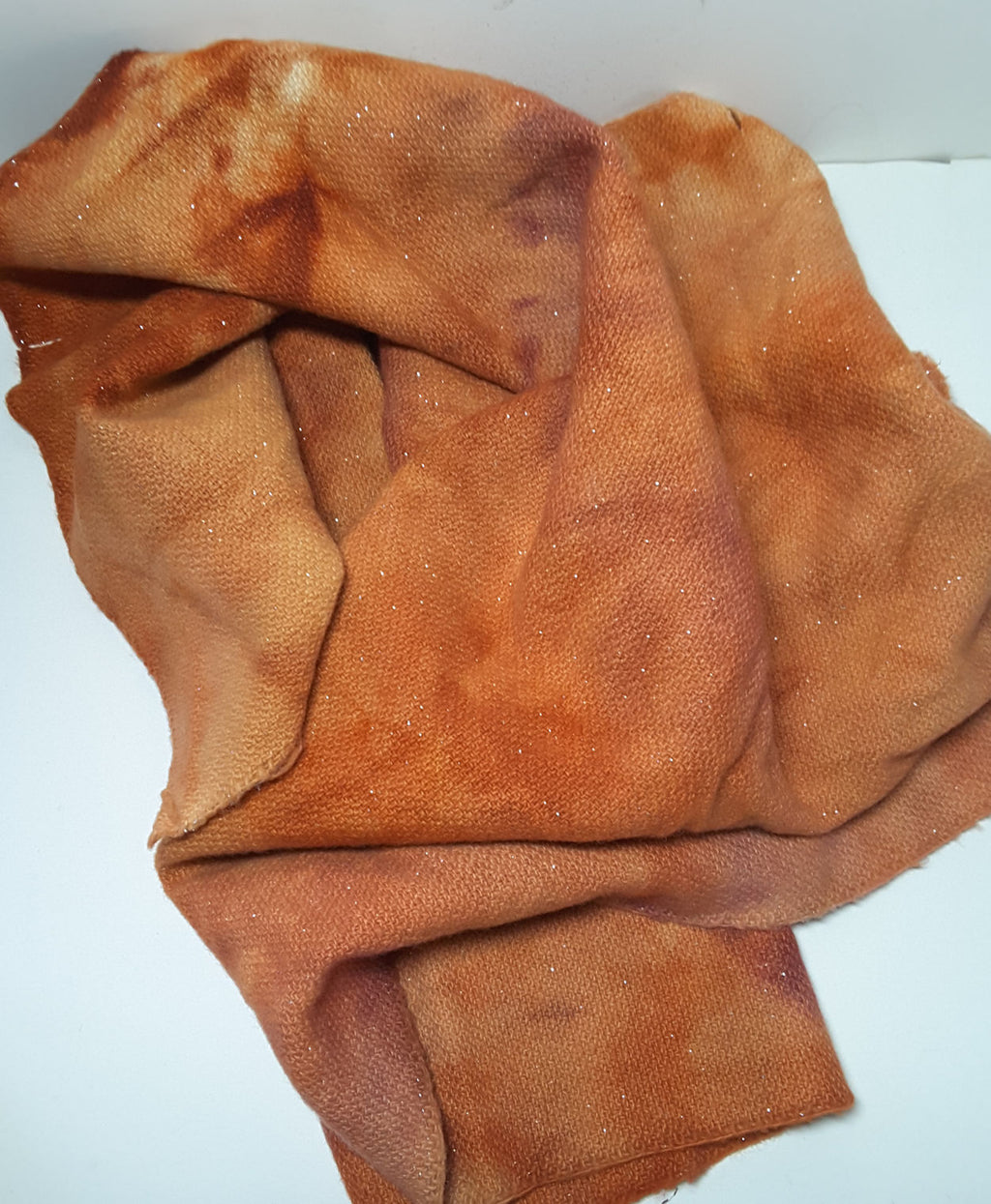 RSS141 - Red Fox - Sparkly Wool Fabric Hand Dyed
