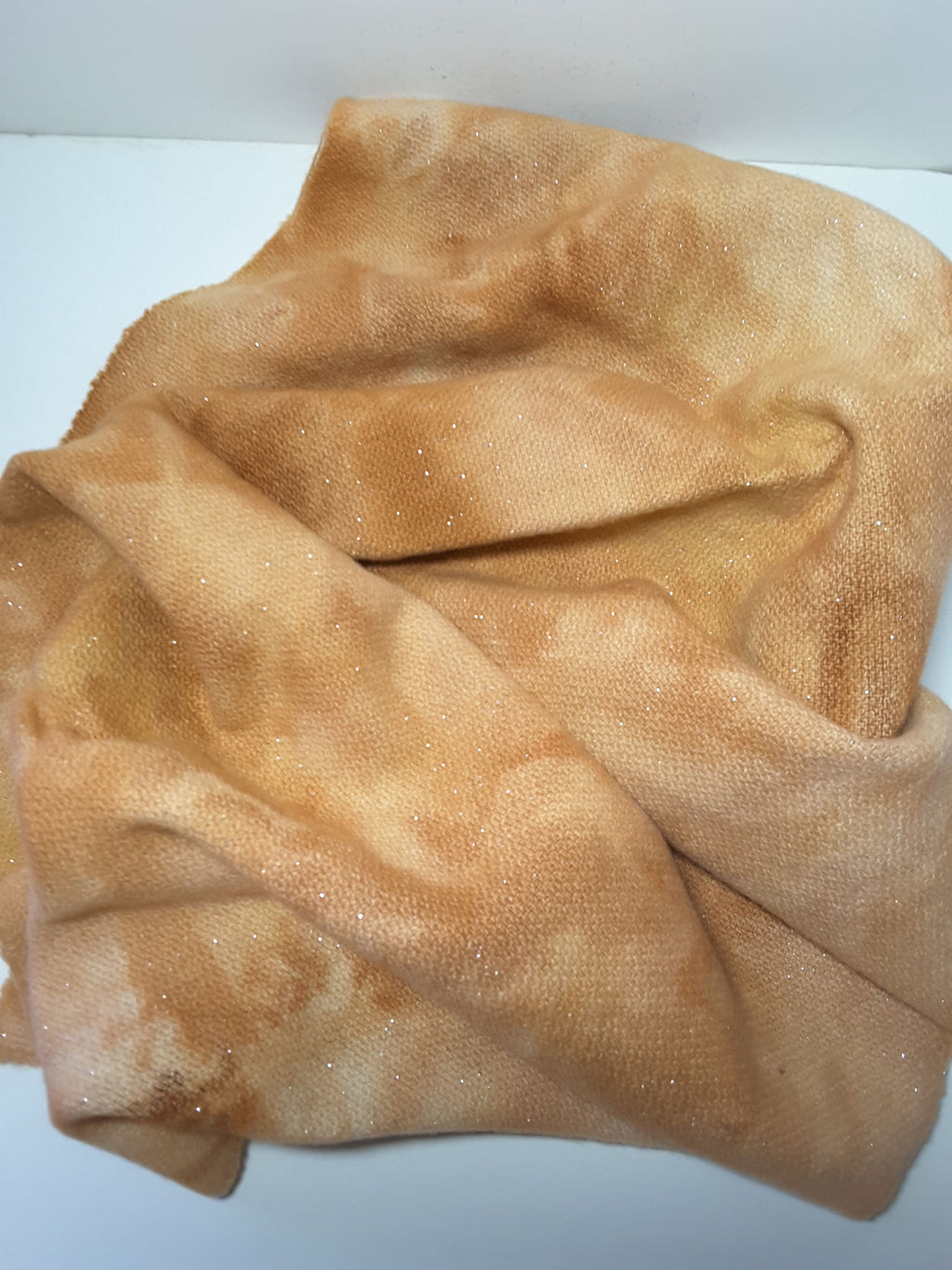 RSS143 - Sandy Shores - Sparkly Wool Fabric Hand Dyed
