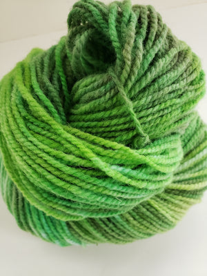SPRING FIELDS -  Hand Dyed Fresh Green Worsted Yarn for Rug Hooking - RSS167