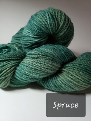 SPRUCE - Hand Dyed Green Worsted Yarn for Rug Hooking - RSS152-4