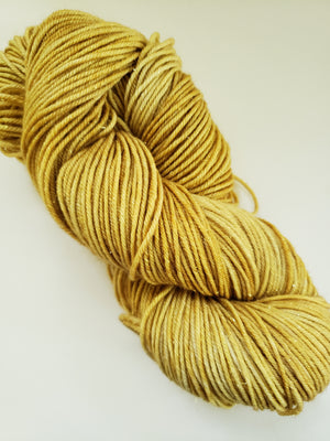 STAR DUST SPARKLE - Merino/Gold Stellina -  Hand Dyed Shades of Gold - Yarn for Rug Hooking - RSS248