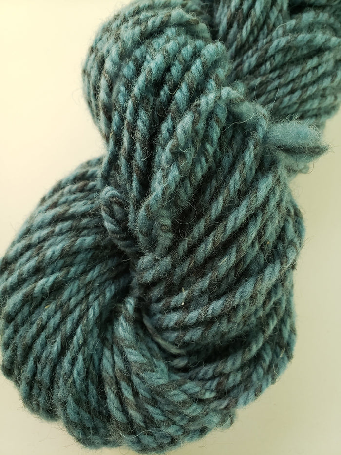 STORMY WATERS -  Hand Dyed Shades of Blue/Teal Worsted/Aran Yarn for Rug Hooking - RSS182