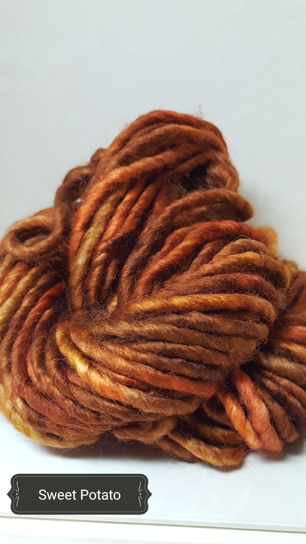 RSS122 - SWEET POTATO - Hand Dyed Chunky Yarn for Rug Hooking