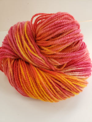 TULIP BOUQUET -  Hand Dyed Orange/Gold Yarn for Rug Hooking - RSS168