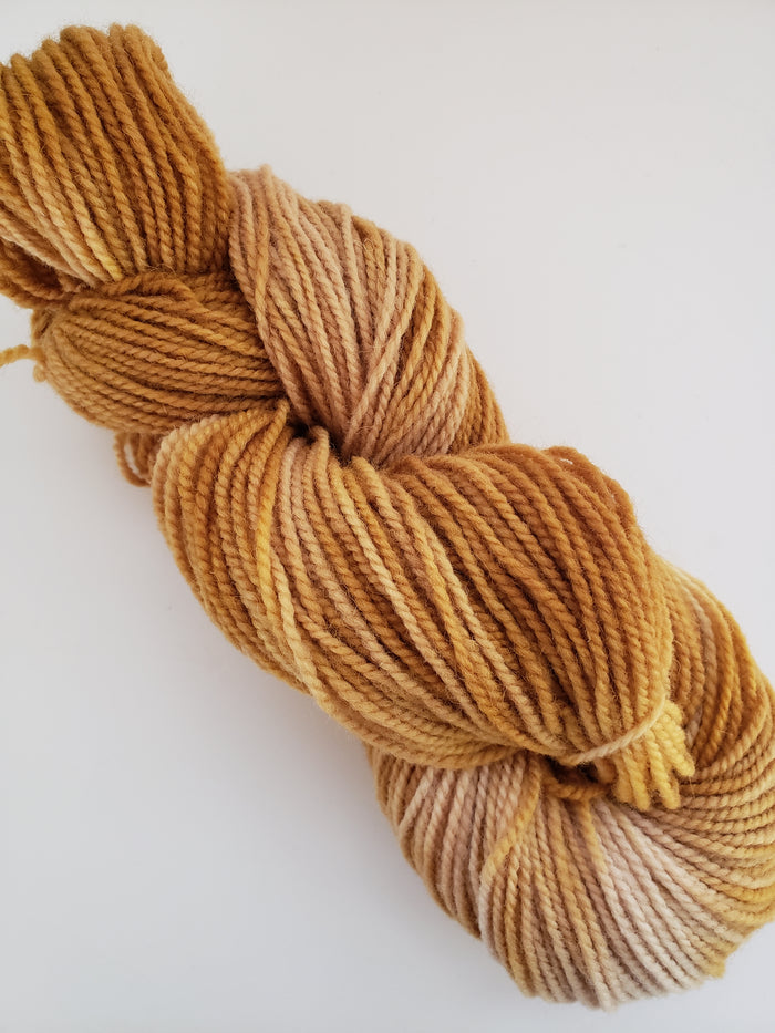TWINKLE TWINKLE-  Hand Dyed Shades of Yellow/Gold Worsted Yarn for Rug Hooking - RSS260