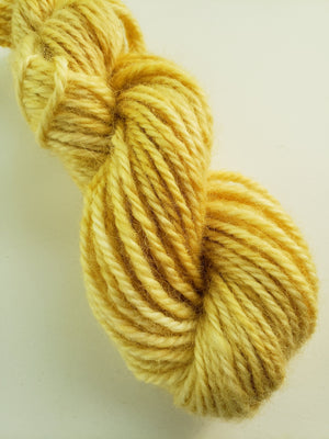 VANILLA CUSTARD  -  Hand Dyed Shades of Yellow Worsted/Aran Yarn for Rug Hooking - RSS187