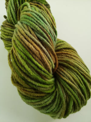 WALK IN THE WOODS -  Hand Dyed Shades of Green Worsted Yarn for Rug Hooking - RSS180