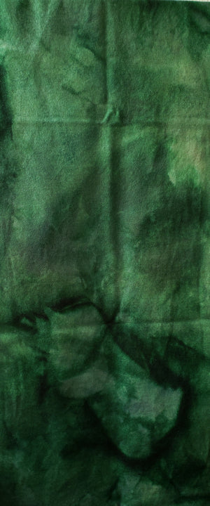 Hand Dyed Studio Cloth - WETLANDS - Shades of Green -  Wool Fabric for Rug Hooking and Wool Applique - RSS177