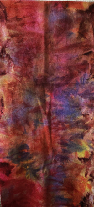 Hand Dyed Studio Cloth - WILDFLOWERS - Shades of Yellow, Pink, Orange and Blue -  Wool Fabric for Rug Hooking and Wool Applique - RSS178